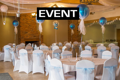 Event services: Banquet halls, Wedding/Event planners,  DJs, Bounce houses and more.